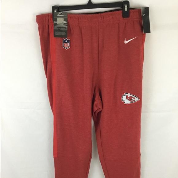 3414d08c Nike dri-fit NFL Kansas City Chiefs red sweats NWT